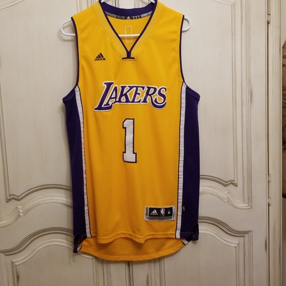 5a269e76483 adidas Other - Authentic Los Angeles Lakers Adidas Russell jersey